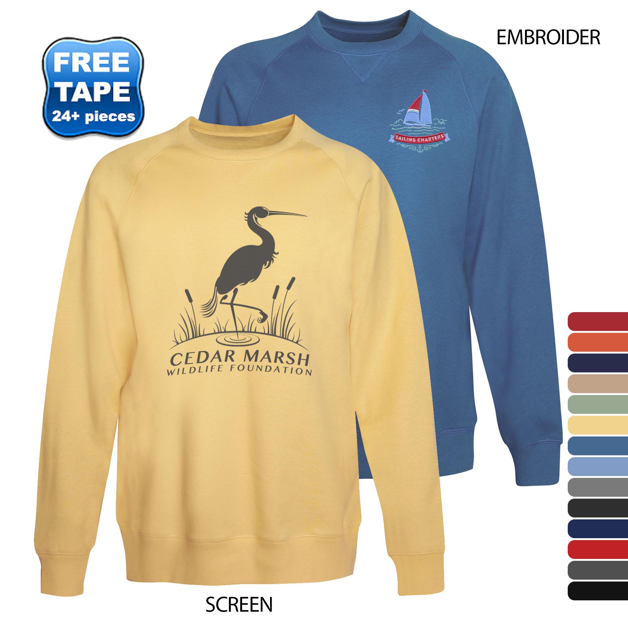 Hanes® Nano Premium Lightweight Men's Crewneck Sweatshirt