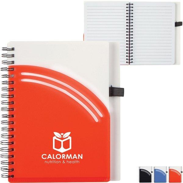 """Arc Spiral Notebook w/ Pen, 6"""" x 7"""""""