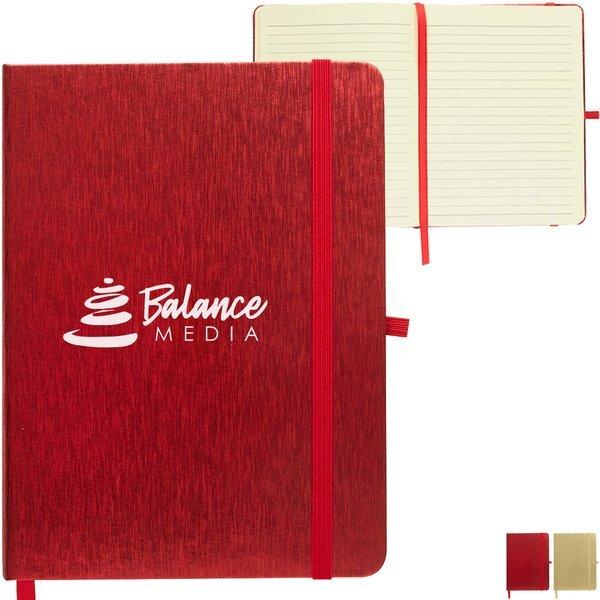 """Metallic Journal Notebook, 5"""" x 7"""""""
