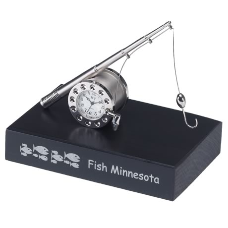 Fishing Die Cast Clock