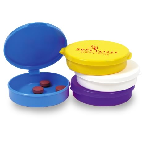Round Pocket Pill Box, Single Compartment