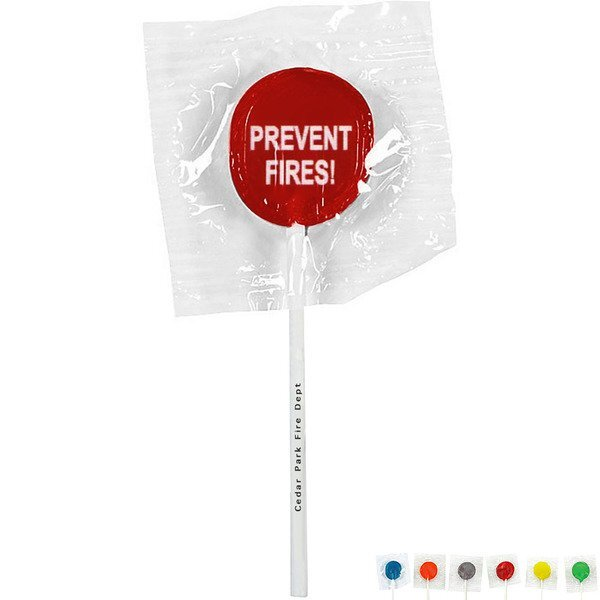 Prevent Fires Design, Custom Lollipops