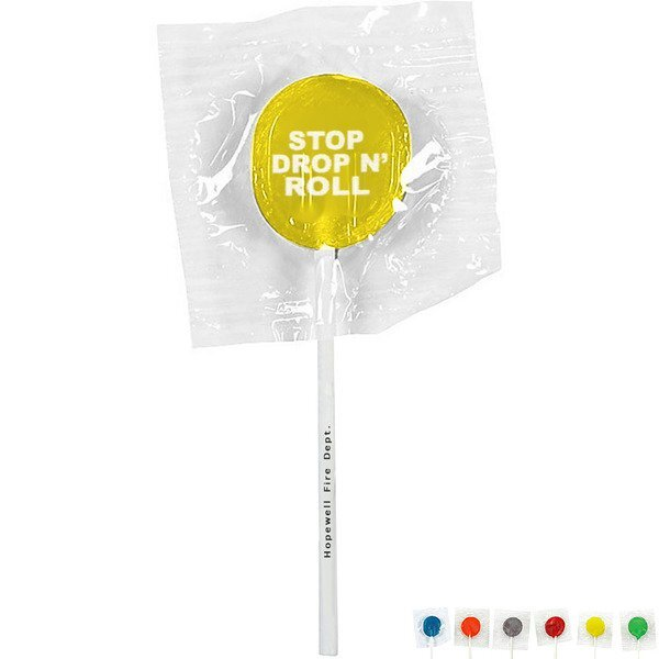 Stop Drop & Roll Design, Custom Lollipops