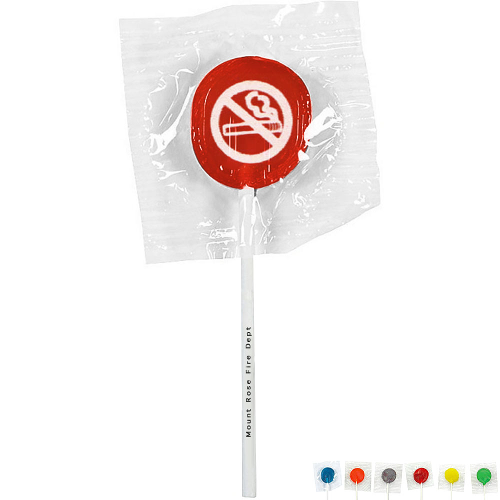 No Smoking Symbol Design, Custom Lollipops