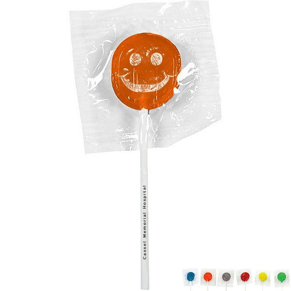 Smiley Face Design, Custom Lollipops