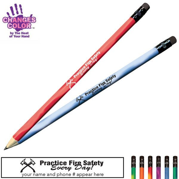 Practice Fire Safety Every Day Mood Color Changing Pencil