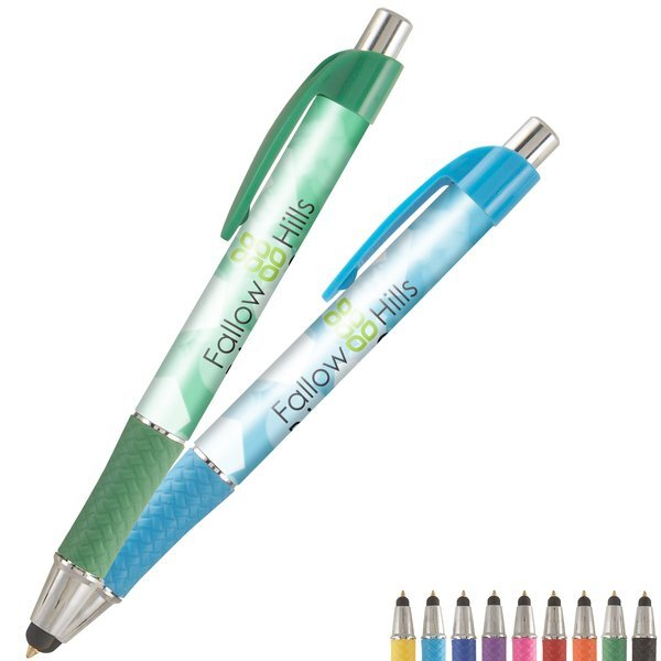 Vision Elite Comfort Grip EverSmooth Ink® Ballpoint Stylus Pen w/ Full Color Imprint