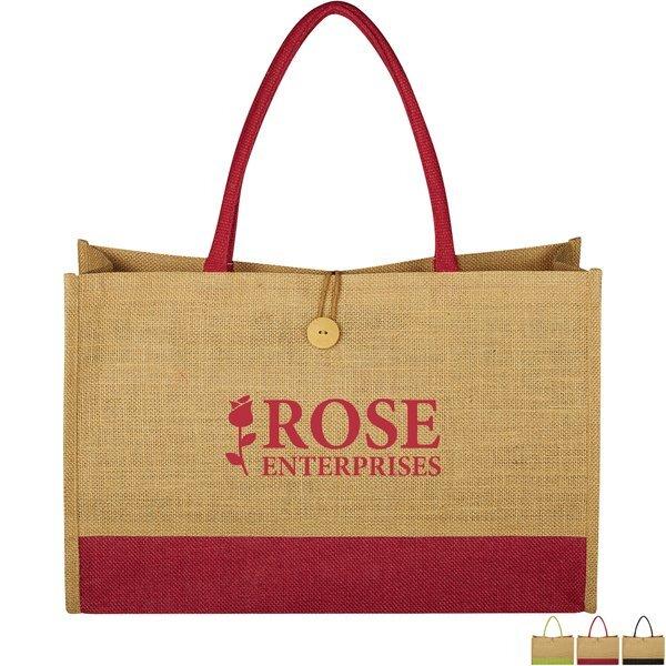 Jute Box Tote Bag