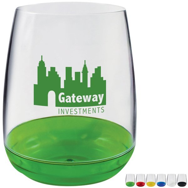 Plastic Stemless Wine Glass, 8oz.