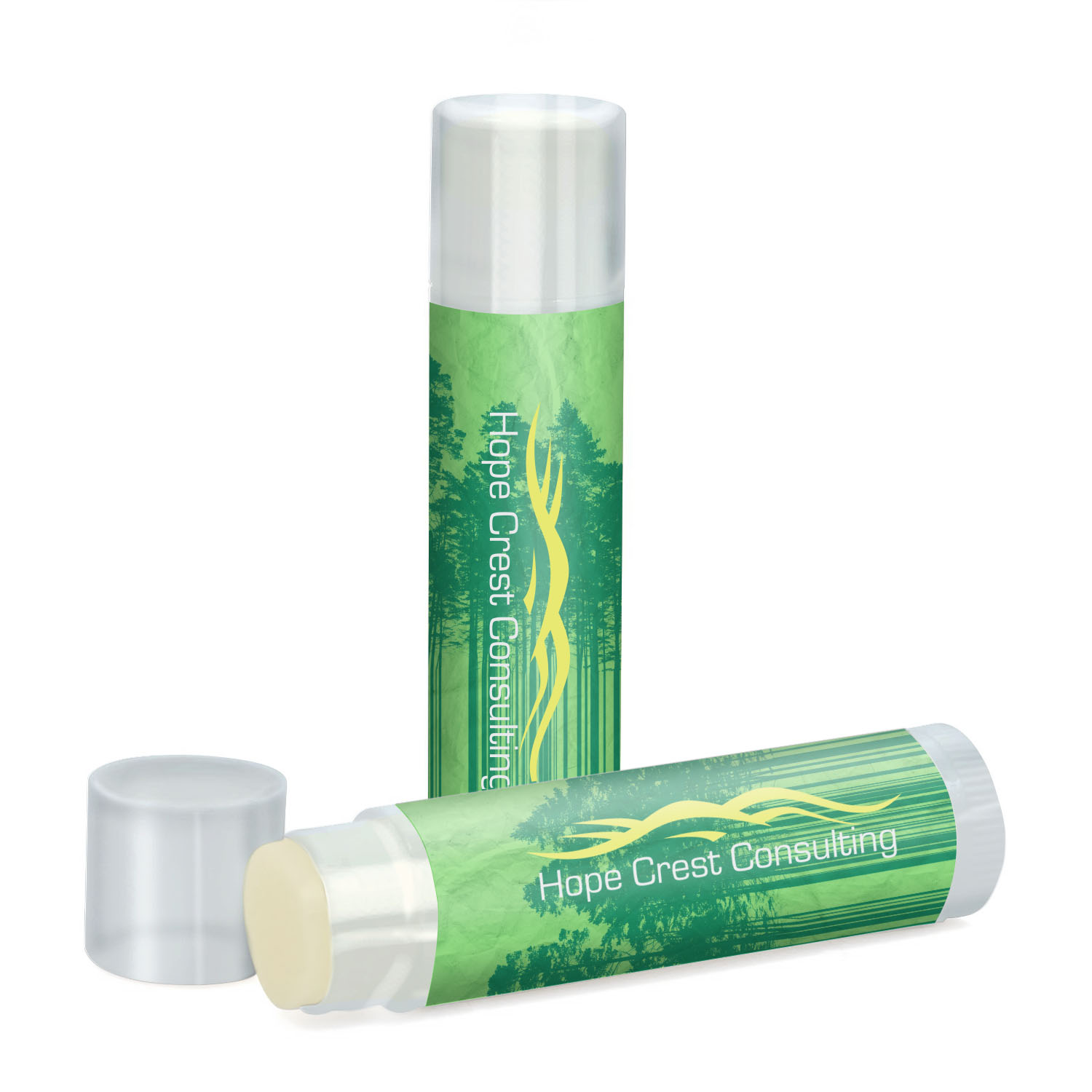 Fabulous Flavors Lip Balm in Clear Tube, SPF-15, Full Color Imprint