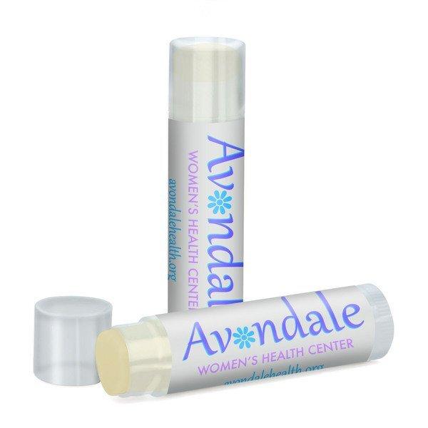Organic Peppermint Lip Balm in Clear Tube