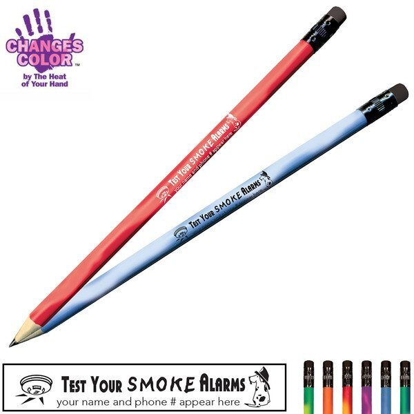 Test Your Smoke Alarms Mood Color Changing Pencil