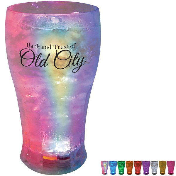 Light Up LED Soda Glass, 12oz.