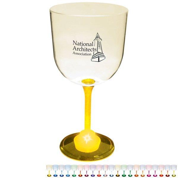 Light Up LED Wine Goblet, 14oz.