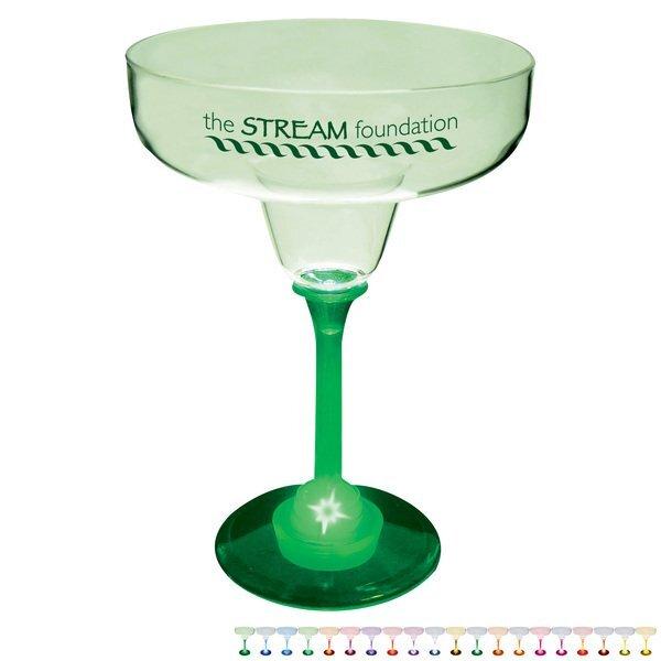 Light Up LED Margarita Glass, 12oz.