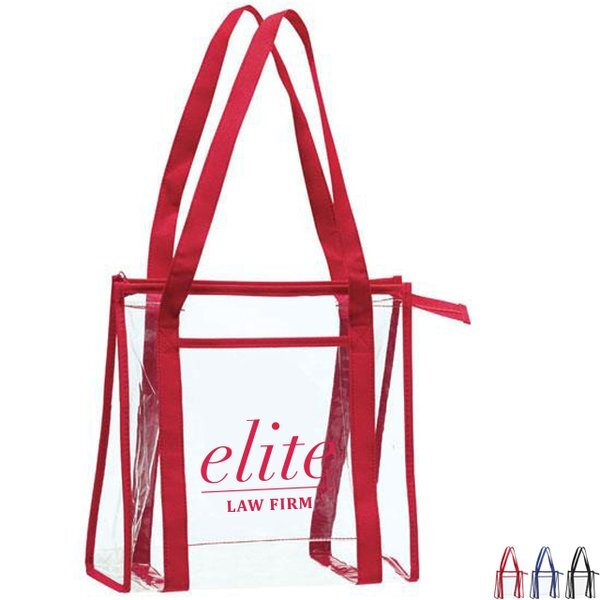 Transparent PVC Zip Tote