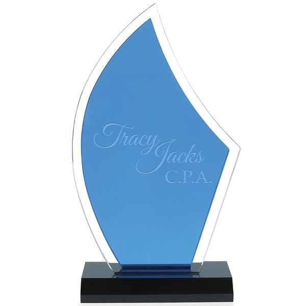 "Acrylic Sailboat Award, 5"" x 9-3/4"""