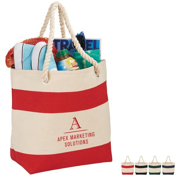 Scull Cotton & Rope Handle Tote