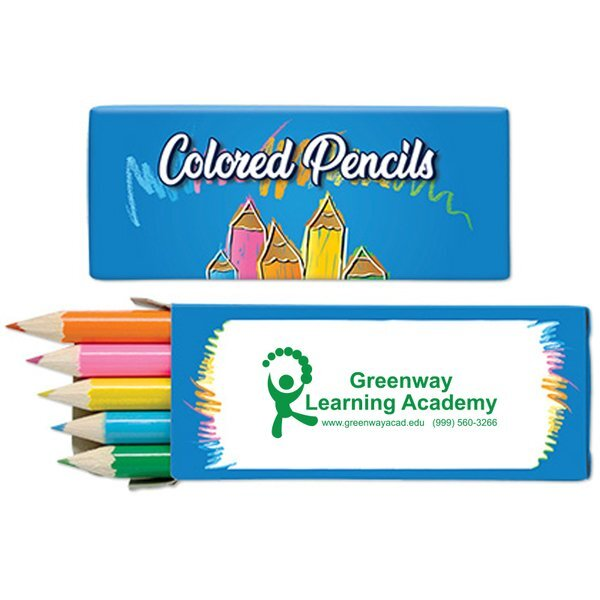 Mini Colored Pencils, 5 Pack