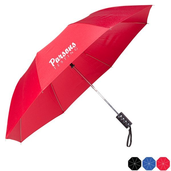 "Basic Auto Open Folding Umbrella, 42"" Arc"