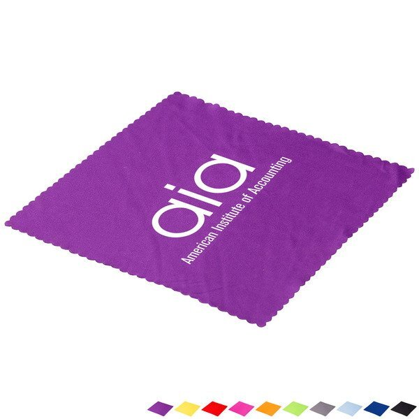 "Deluxe Value Microfiber Cloth, 6"" Square"