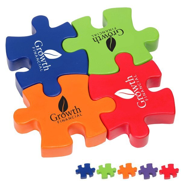 Connecting Puzzle Set Stress Relievers, 4-Piece