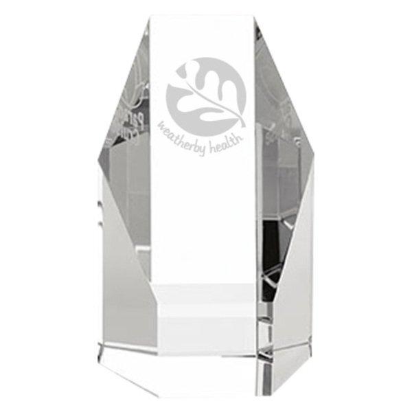 "Hexagonal Crystal Tower Award, Small, 5"""