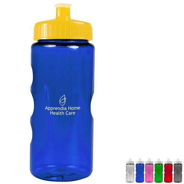 Finger Grip Tritan™ Translucent Bottle, 22oz. - Push Pull Lid