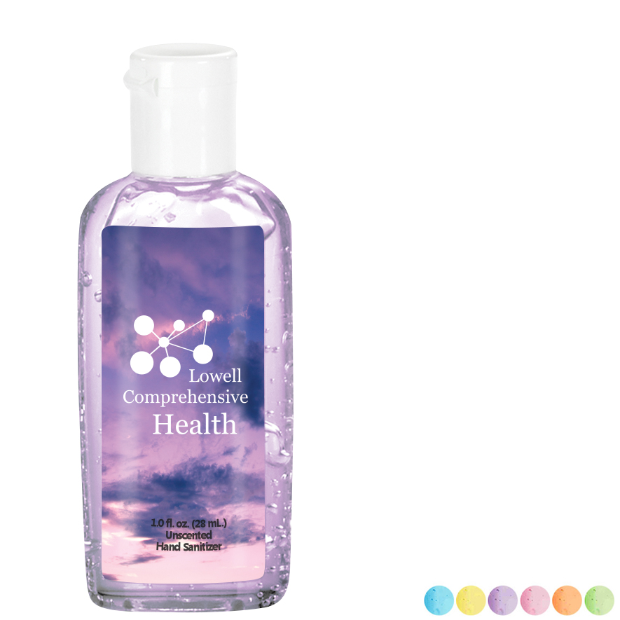 Fresh Scents Antibacterial Sanitizer Gel in Oval Bottle, 1oz., Full Color Imprint