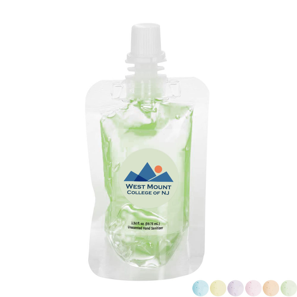 Fresh Scents Antibacterial Sanitizer Gel in Squeeze Pouch, 1oz.