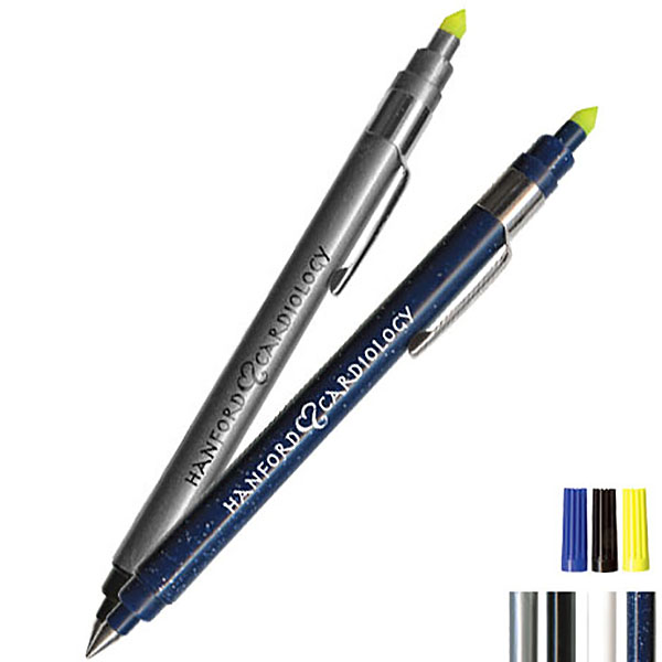 Highlighter & Ballpoint Pen Combo