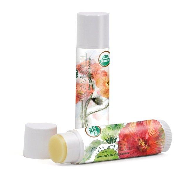 Organic Unflavored Lip Balm, USDA Certified