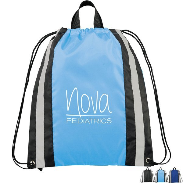 Echo Small Polyester Reflective Drawstring Sportspack