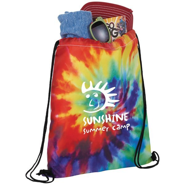 Tie Dye Polyester Drawstring Sportspack