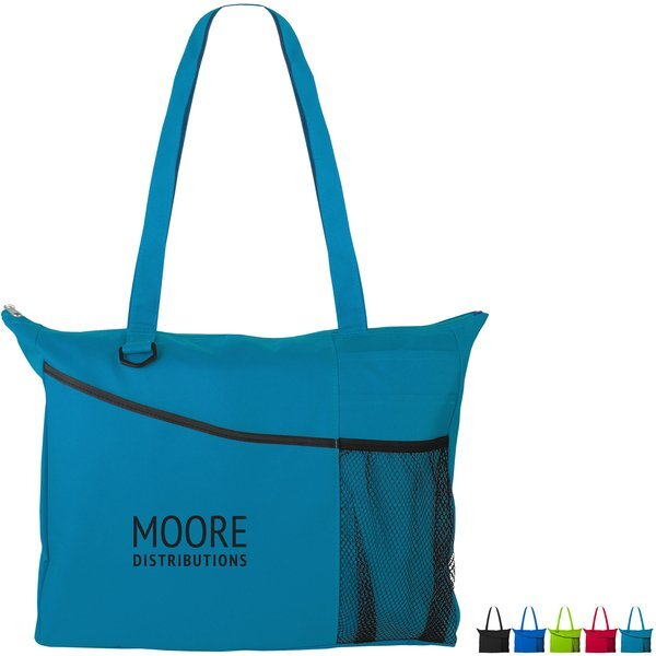 Mesh Pocket Polyester Conference Tote
