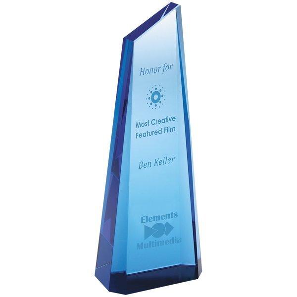 "Blue Tower Crystal Award, 8-3/4"""