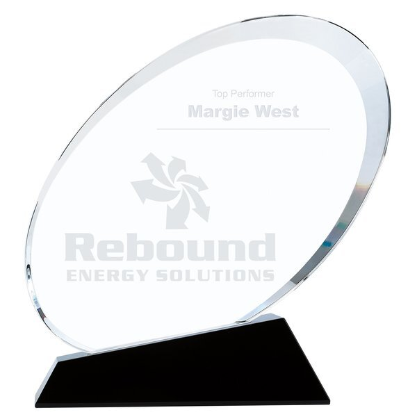 Ovate Crystal Award, Medium, 6-1/4""