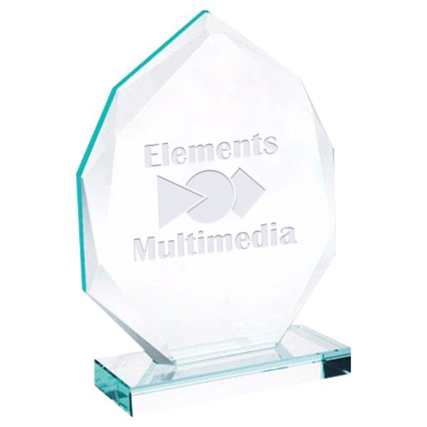 "Eclipse Jade Glass Award, Large, 6-1/4"""