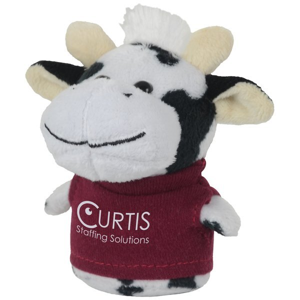 """Shorties Plush Cow, 4"""""""