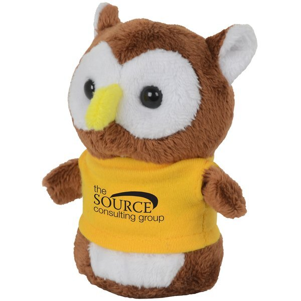"Shorties Plush Owl, 4"""