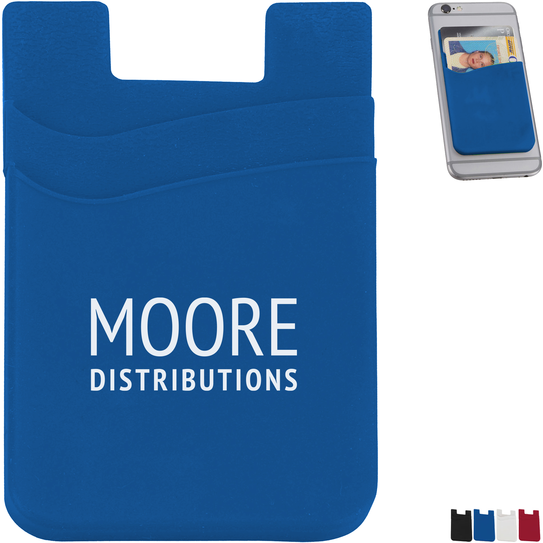 Dual-Pocket Slim Silicone Phone Wallet