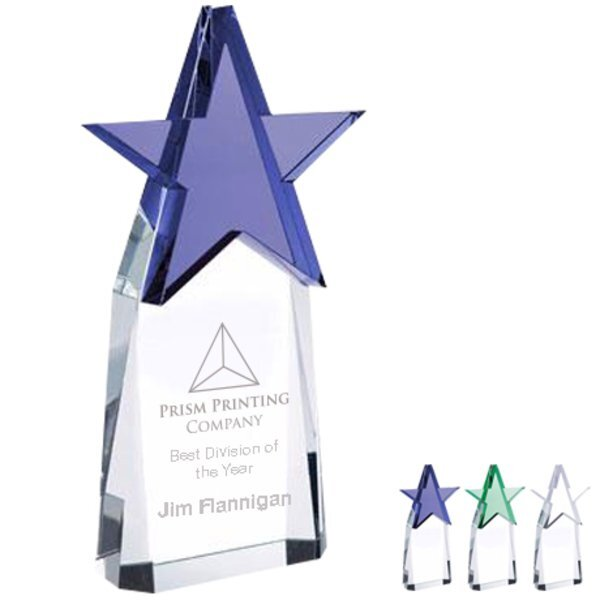 Top Star Crystal Award, 7-7/8""