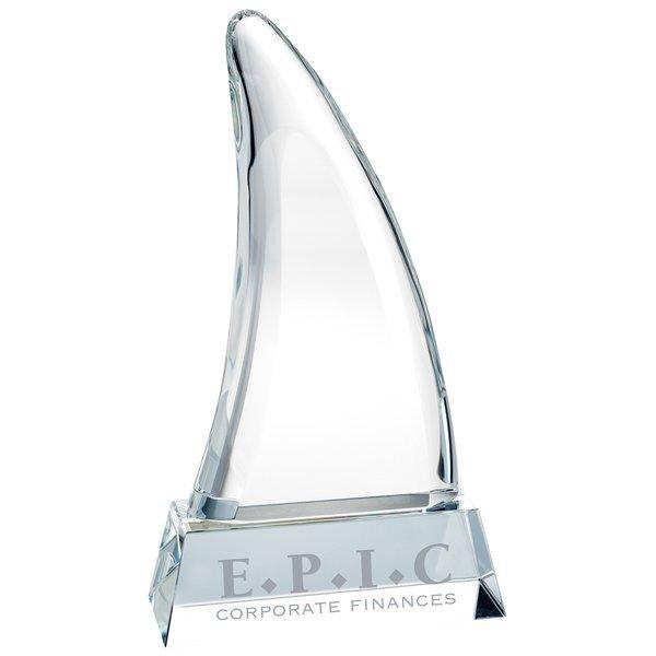 "Stealth Mode Crystal Award, 8-5/8"""
