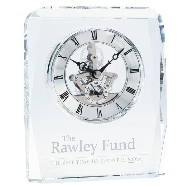 Crystal Skeleton Desk Clock