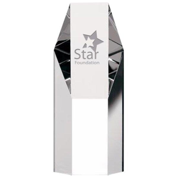 "Hexagonal Crystal Tower Award, Medium, 7-1/4"""