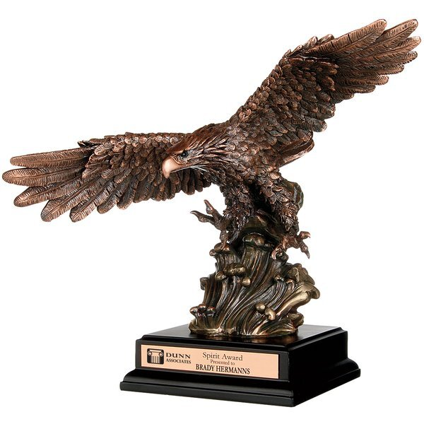 "Soaring Heights Bronze Eagle Award, 11-3/4"""