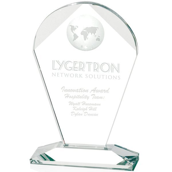 Geodesic Crystal Award, Medium, 8-5/8""