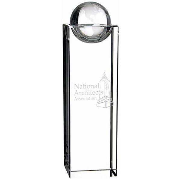 "Global Perception Crystal Award, Medium, 8-1/4"""