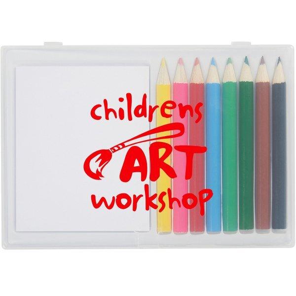 Colored Pencil 8-Piece Art Set In Case