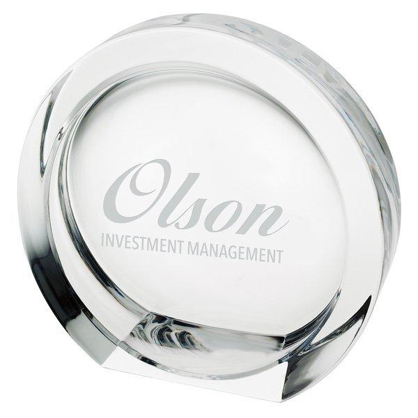 "Mario Cioni® High Tech 24% Full Lead Crystal Award, Medium, 5-1/2"""